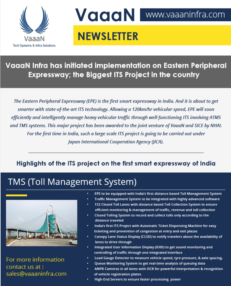 EPE to be equipped with India�s ?rst distance based Toll Management System